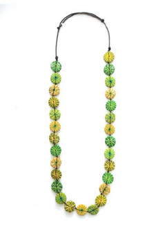 LONG NEON NECKLACE  - LIME