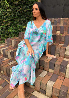 CLAIRE POWELL MODAL LONG KAFTAN - BUTTERFLY PRINT
