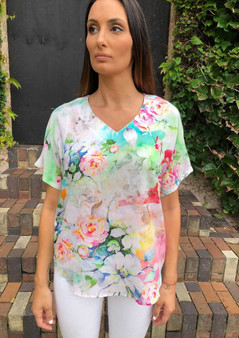 CLAIRE POWELL MODAL TOP - FLORAL PRINT