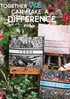 verge charity bags - black/white, pink and black/multi