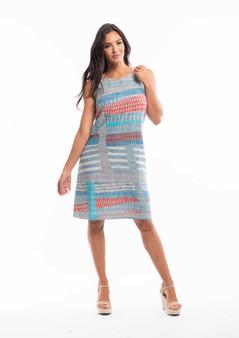 ORIENTIQUE VIEW PORT PRINT REVERSBILE SHIFT DRESS