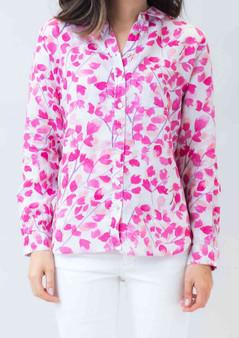 naturals by Olive et Julie Linen shirt in Blossom Print