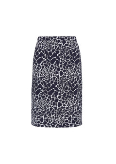 VERGE ACROBAT LAYER SKIRT IN BLINK PRINT - FRENCH INK/WHITE
