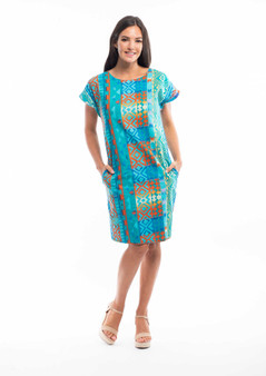 Orientique Reversible Dress in Valancay print - side one