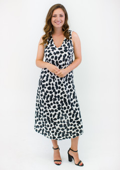 BONDI PRINT V-NECK DRESS