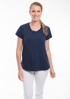 OR 11270 KNIT TEE  - NAVY