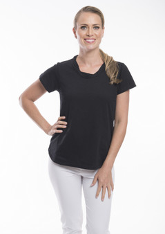 OR 11270  KNIT TEE  -BLACK