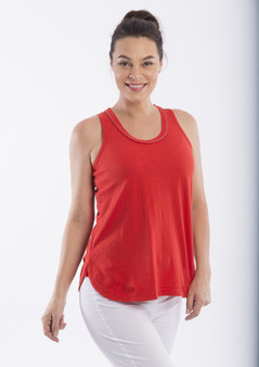 OR 11262 Cotton Knit Cami SCARLET