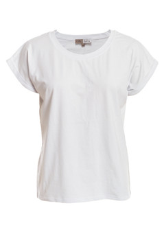 STRETCH COTTON TEES CLM134 - WHITE