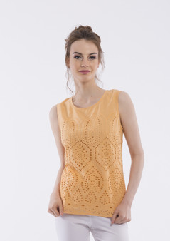OR 52416 BRODERIE CAMI - APRICOT