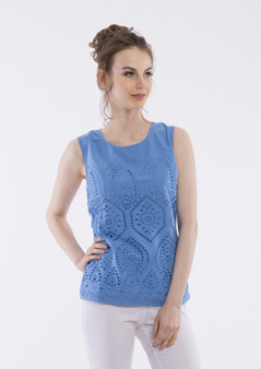 OR 52416 BRODERIE CAMI - BLUE
