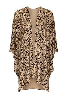 bamboo brown leopard kimono
