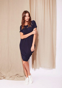 LOU LOU BAMBOO -  NORA  Dress - Navy