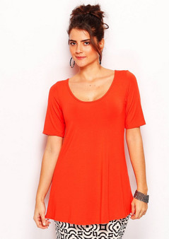 wYse 4136 A-line tee in Tomato
