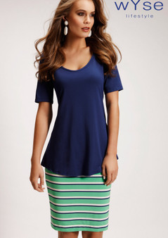 wyse 4136 A-line tee in Sapphire Blue