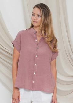 VL071 linen shirt in blush
