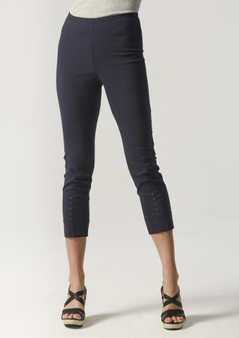 VERGE ACROBAT EYELET PANT - FRENCH INK