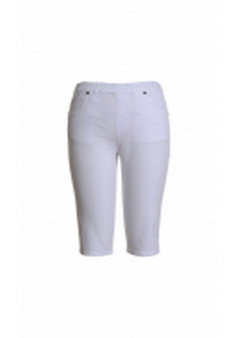 CAFE LATTE JEASN SHORTS - WHITE