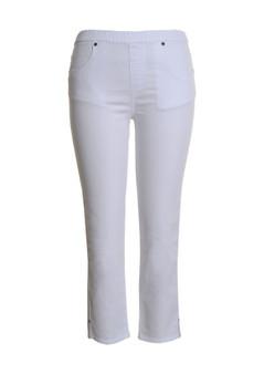 CLW555 Cotton Capris - WHITE