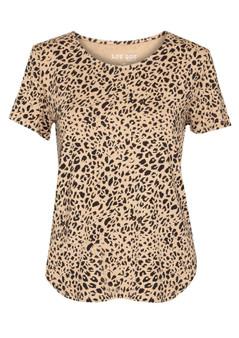 brown leopard janis tee