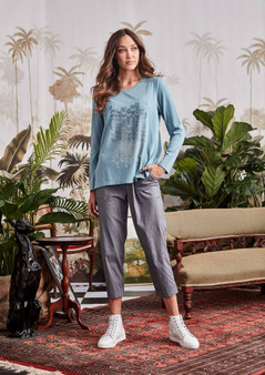VERGE ACROBAT ESSEX PANT IN SILVER MARLE