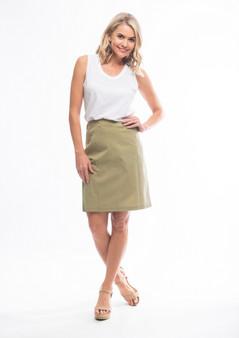 olive Bengaline Skirt