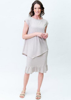 KATY FRILL SKIRT AND  TONI TOP IN LINEN