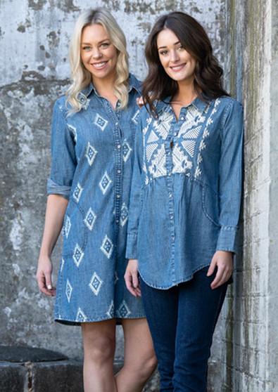 Barrakka Denim  Dress and Shirt by Orientique