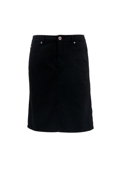 CAFE Latte Jeans Skirt - BLACK