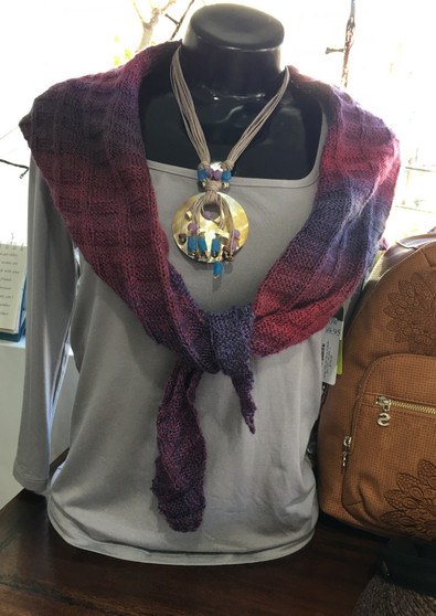 Triangle scarf in NZ Wool