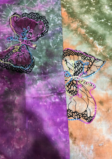 Tie- dye butterfly sarong