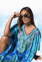 REEF PRINT MODAL KAFTAN by CLAIRE POWELL
