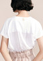 Layer'd Ra tee in Chalk Back View