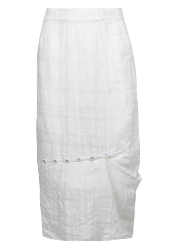 Stretchy straight monochrome skirt made from Australian made cottonspandex