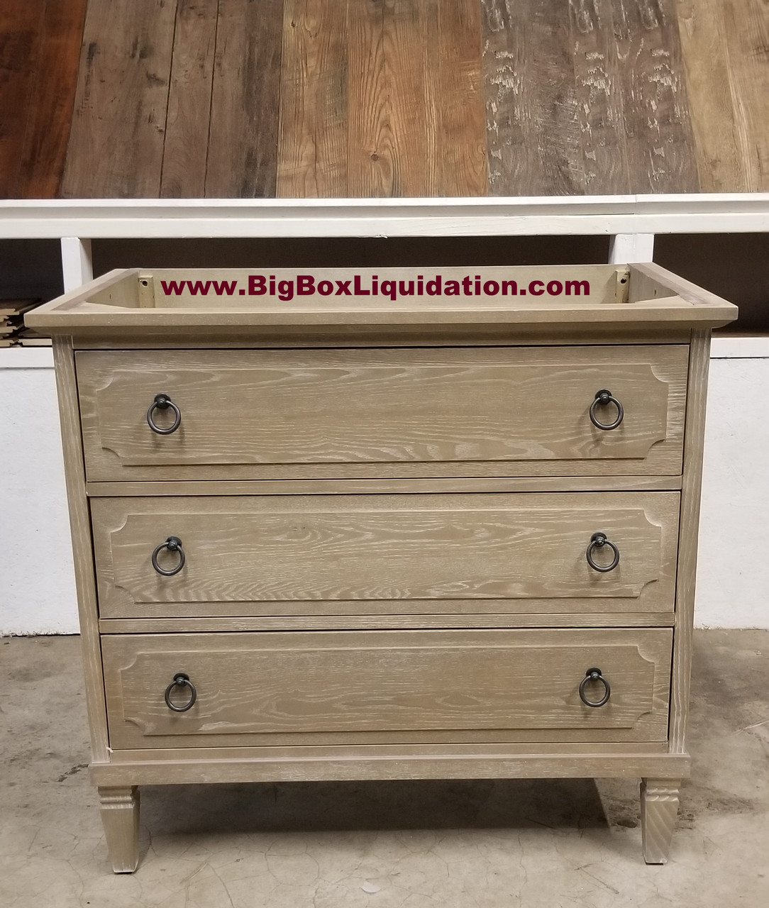 Solid Wood Ann Stained Weathered Gray 36 In X 22 In All Drawers Slow Close Fully Assembled Bath Vanity Cabinet Only Big Box Liquidation Llc