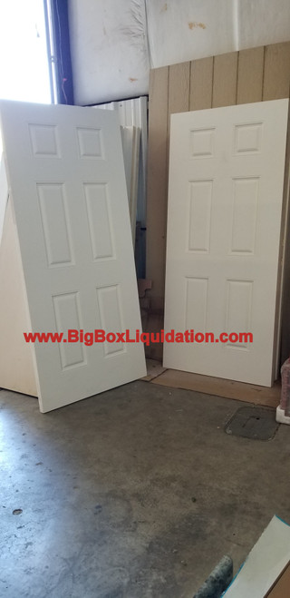 Doors Smooth Fiberglass Insulated Primed White 6 Panel BRAND NEW 36x80 SLABS - Prehung Available