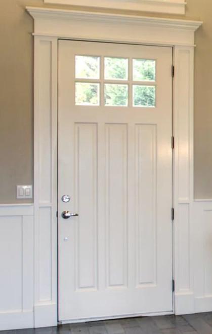 Doors & Window Header Craftsman Primed Solid Wood 12 foot Assembled Kit, Doors & Windows Crosshead