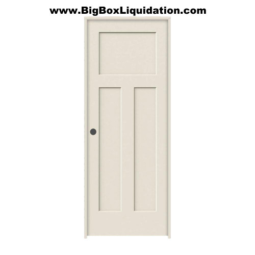 We Install Multiple Doors Packages. Alan 615-800-1646  24 in. x 80 in. 3-Panel Shaker Craftsman Winslow Primed Right Handed Hollow-Core Smooth Molded Composite MDF Single, Split Primed FingerJointed Jamb Prehung Interior Door
