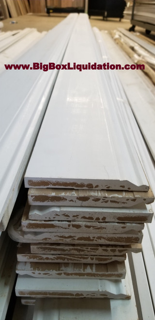 Baseboard  5/8 in. x 5-1/4 in. x 16 Feet Profile 610 (House of Fara 8847) Primed MDF Colonial Base Moulding