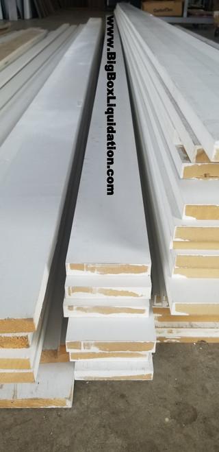 Craftsman 1 in. x 4 in. x 16 ft. Primed Painted MDF Moulding Board S4S Square Cut Baseboard & Window & Door Trim
