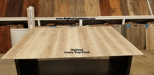 Highland 7 in. WIDE x 48 in. LENGTH, LVT, 12 mil Wear Layer, Click Lock Install, Luxury Vinyl Plank Flooring  Installation Available, Pallet Shipping Available 615-800-1646