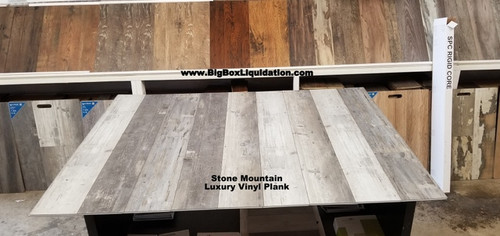 Stone Mountain 7 in. WIDE x 48 in. LENGTH, LVT, 12 mil Wear Layer, Click Lock Install, Luxury Vinyl Plank Flooring  Installation Available, Pallet Shipping Available 615-800-1646