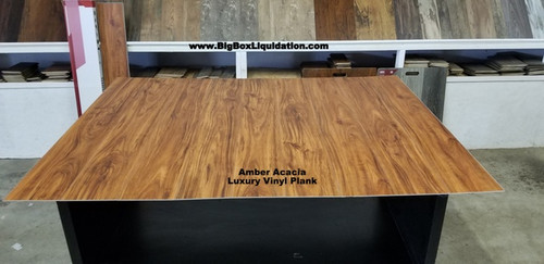 Amber Acacia 7 in. WIDE x 48 in. LENGTH, LVT, 12 mil Wear Layer, Click Lock Install, Luxury Vinyl Plank Flooring  Installation Available, Pallet Shipping Available 615-800-1646