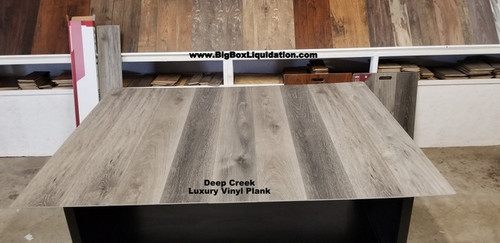 Deep Creek 7 in. WIDE x 48 in. LENGTH, LVT, 12 mil Wear Layer, Click Lock Install, Luxury Vinyl Plank Flooring  Installation Available, Pallet Shipping Available 615-800-1646