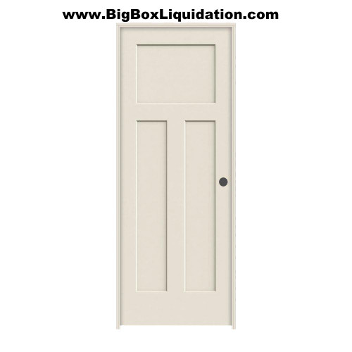 We Install Multiple Doors Packages. Alan 615-800-1646  36 in. x 80 in. 3-Panel Shaker Craftsman Winslow Primed Left Handed Hollow-Core Smooth Molded Composite MDF Single, Split Primed FingerJointed Jamb Prehung Interior Door