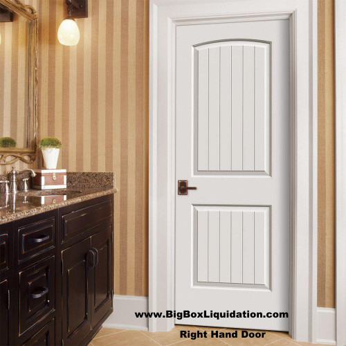 We Install Multiple Doors Packages. Alan 615-800-1646  32 in. x 80 in. 2-Panel Arch Camber Top V-Grooved Planks Cheyenne Sante Fe Hollow-Core Primed Right Handed Smooth Molded Composite MDF Single, Split Primed FingerJointed Jamb Prehung Interior Door