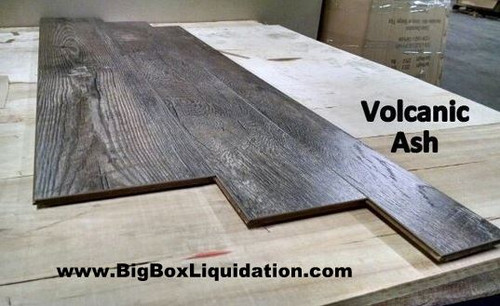 VOLCANIC ASH 17 inch Multiple Widths x 1/2 inch Thick Engineered UNICLIC Hardwood Flooring Waterproof Surface & Waterproof Locking Flooring  Installation Available, Pallet Shipping Available 615-800-1646