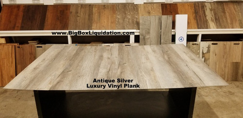 Antique Silver 7.17 in. WIDE x 48 in. LENGTH, 4.2mm THICK, Pad Attached, 12 mil Wear Layer, Click Lock Install, Rigid Core Luxury Vinyl Plank Flooring  Installation Available, Pallet Shipping Available 615-800-1646
