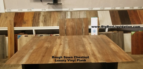 Rough Sawn Chestnut 7.17 in. WIDE x 48 in. LENGTH, 4.2mm THICK, Pad Attached, 12 mil Wear Layer, Click Lock Install, Rigid Core Luxury Vinyl Plank Flooring  Installation Available, Pallet Shipping Available 615-800-1646