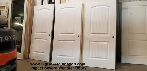 36 in. x 80 in. Impact Doors, 2-Panel Arch Camber Top V-Grooved Planks Cheyenne Sante Fe Smooth Fiberglass Exterior Impact Doors Slabs  We Install Flooring, Doors, Baseboard, Crown Molding, Window and Door Trim, .... Alan Feild 615-800-1646